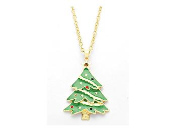 Occasions gift giving enamel holiday christmas tree pendant necklace enamel holiday christmas tree pendant necklace aloadofball Image collections