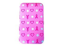 Ribbons & Dots Breast Cancer Smartphone Case Wristlet