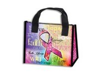 Pink Ribbon Insulated Lunch Bag