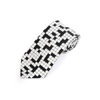Men's Crossword Puzzle Polyester Printed Novelty Tie