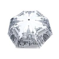 St Basil's Cathedral Moscow Printed Automatic Open Folding Umbrella