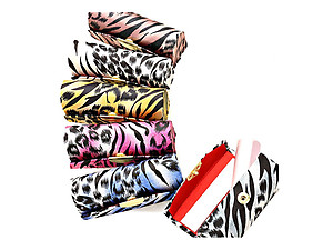 Animal Print Lipstick Case Holder w/ Mirror