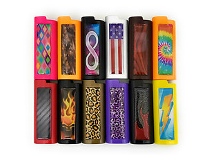 Colorful & Fun Lifestyle Metal Lighter Case Cover Holder with Epoxy Sticker Design