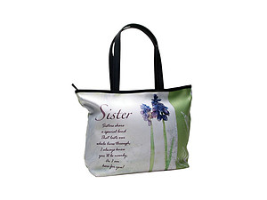 Sisters Share A Special Bond Floral Tote