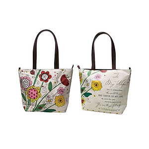 To My Wife Imprinted Floral Tote