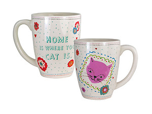 Home Is Where Your Cat Is .... 12 Once Coffee Mug