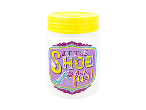 If The Shoe Fits Mason Jar Bank