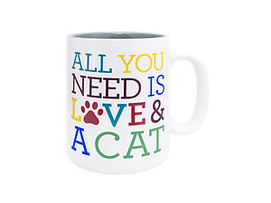Love and a Cat Coffee Mug