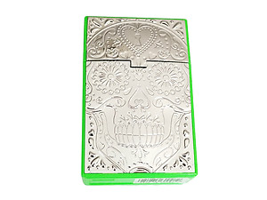 Colorful Kingsize Skull Design Cigarette Case
