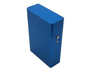 Blue Fujima Aluminum Push Open Cigarette Case