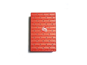 Red Kingsize Bedazzled Push Open Plastic Cigarette Case