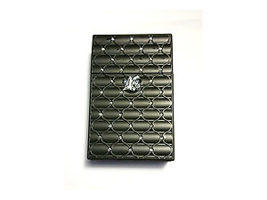 Black Kingsize Bedazzled Push Open Plastic Cigarette Case