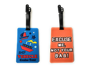 Cruise Tour & Orange Not Your Bag Set ~ Travel Suitcase ID Luggage Tag and Suitcase Label