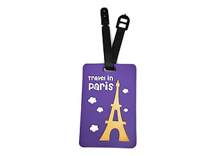 Travel in Paris ~ Travel Suitcase ID Luggage Tag and Suitcase Label