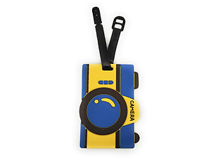 Blue Camera ~ Travel Suitcase ID Luggage Tag and Suitcase Label