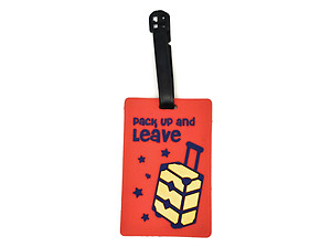 Pack Up and Leave ~ Travel Suitcase ID Luggage Tag and Suitcase Label