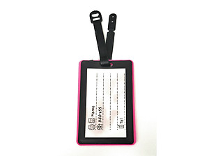 Pink Fly ~ Travel Suitcase ID Luggage Tag and Suitcase Label