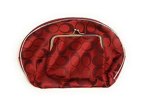 Infinity Pattern Large Zipper Cosmetic Bag & Coin Purse Set