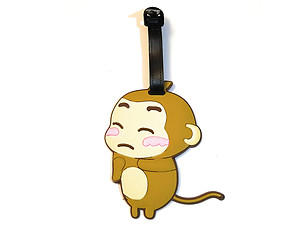 Crying Monkey ~ Travel Suitcase ID Luggage Tag and Suitcase Label