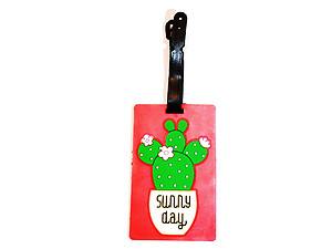 Travel Suitcase ID Luggage Tag and Suitcase Label - Cactus Flower