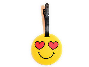 Heart Eyes Smiley Face ~ Travel Suitcase ID Luggage Tag and Suitcase Label