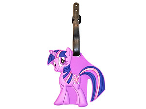 Travel Suitcase ID Luggage Tag and Suitcase Label - Little Purple Pony