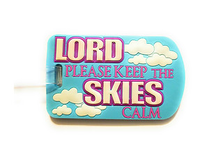 Keep The Skies Calm ~ Inspirational Travel Suitcase Label ID Luggage Tag