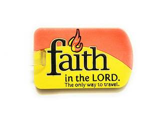 Faith in the Lord ~ Inspirational Travel Suitcase Label ID Luggage Tag