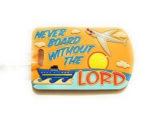 Inspirational Travel Suitcase Label ID Luggage Tag - Orange Never Board