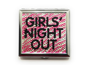 Girl's Night Out Bling Double Sided Metal Cigarette Case for Kings/ Wallet