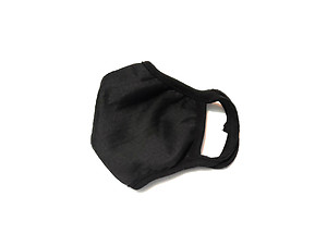 Black Fabric Reusable Protective Face Mask