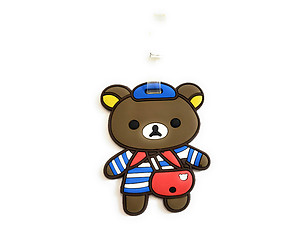 Bear with Red Bag ~ Travel Suitcase ID Luggage Tag and Suitcase Label