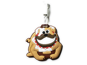 Grinning Bull Dog ~ Travel Suitcase ID Luggage Tag and Suitcase Label