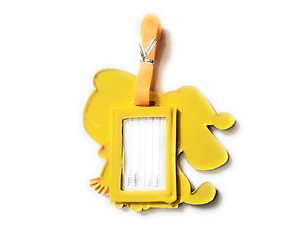 Yellow Dog ~ Travel Suitcase ID Luggage Tag and Suitcase Label