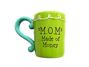 M. O. M. ~ Made of Money Festive Flower Ceramic Mug