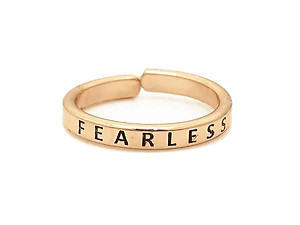 Engraved Inspirational Message Adjustable Ring