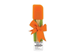 Orange & Olive Silicone Trivet & Spatula Kitchen Tool Gift Set