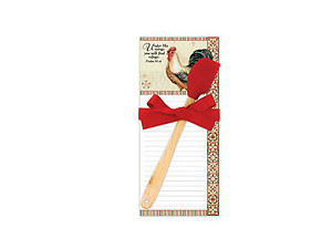 Bohemian Rooster Kitchen Notepad and Spatula With Scripture