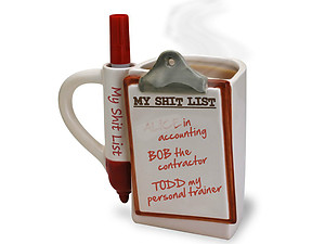 BigMouth Inc The Shit List Mug
