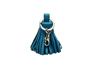Turquoise Tassel Keychain Made With 100% Genuine Leather