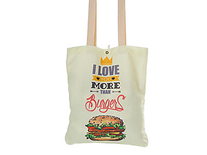 Burgers Multi-Purpose 100% Cotton Printed Fashion Canvas Tote Bag