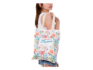 Flowers Multi-Purpose 100% Cotton Printed Fashion Canvas Tote Bag