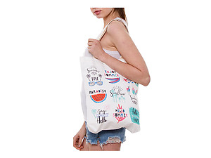 Enjoy Summer Multi-Purpose 100% Cotton Printed Fashion Canvas Tote Bag