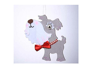 Schnauzer Holiday Ornament