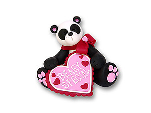 Beary Special Panda Bear Figurine for Valentine's Day