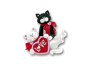 Kitty Couple Cat Figurine for Valentine's Day
