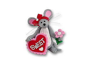 Merry Mouse Sweetheart Girl Figurine for Valentine's Day