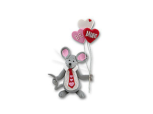 Merry Mouse Sweetheart Boy Figurine for Valentine's Day