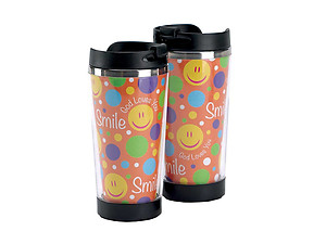 9.5 oz Boxed Travel Mug ~ Smile God Loves You