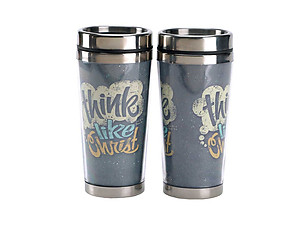 16 Oz. Stainless Steel Insulated Travel Mug with Lid  ~ Think Like Christ